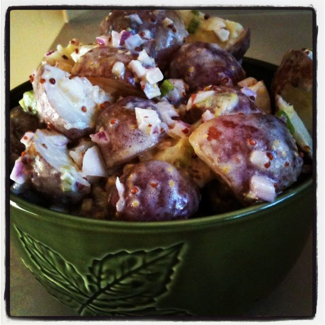 Clean Eating Baby Red Potato Salad | Food | Pinterest