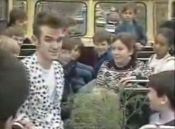 """Watch The Smiths go for a ride on """"Charlie's Bus"""" in 1984 #thesmiths"""