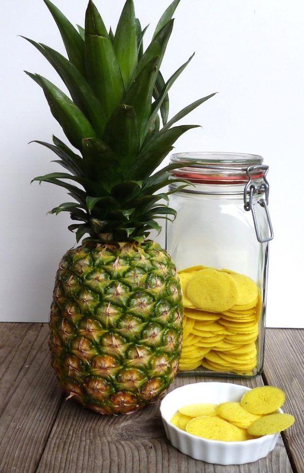 Obstblume.de - Chips aus frischer Ananas ohne Zucker