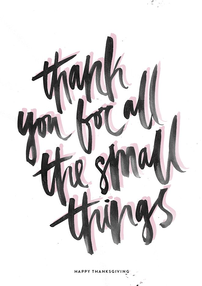 Obrigado por todas as pequenas coisas <3