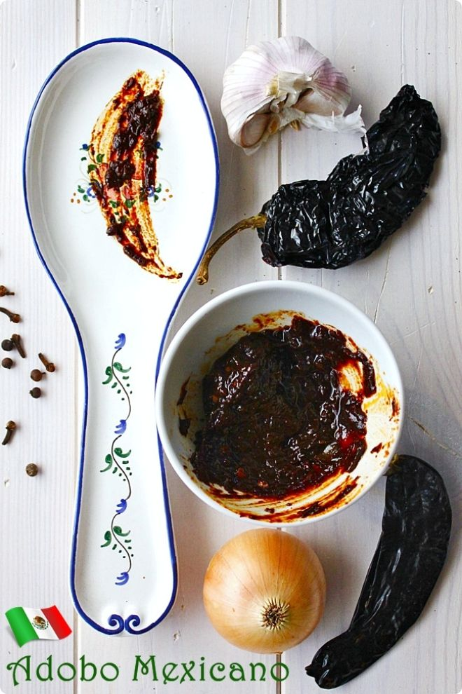 Adobo mexicano se utiliza para untar costillas de cerdo o for Comida para barbacoa