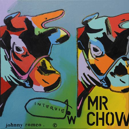 Johnny Romeo  Interview - 2013   Acrylic and oil on canvas   71 x 71 cm