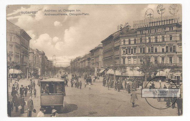 BUDAPEST - Oktogon 1913-ban