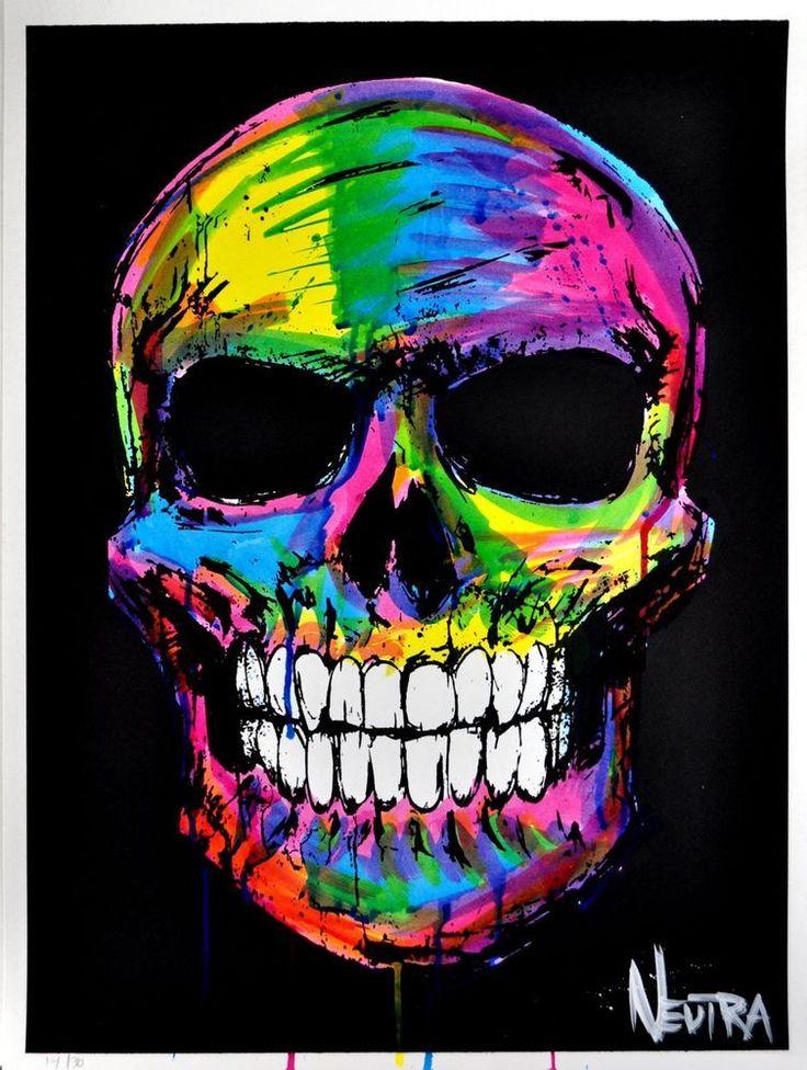 skull wallpaper 133 colorful - photo #7