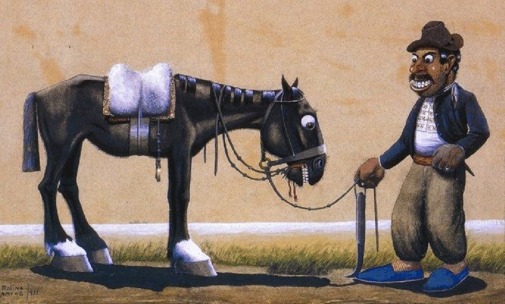 Alpargatas azules Florencio Molina Campos, argentino (1891-1959)
