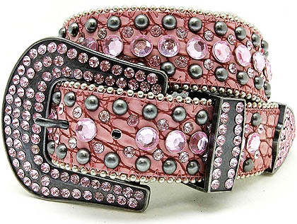Western Belt  Cowgirl - Country  Pink Bling Belt  $29.50