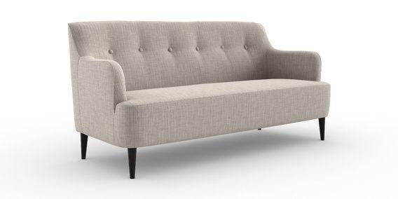 Superb Carter Large Sofa 3 Seats Studio Texture Light Silver Slim Squirreltailoven Fun Painted Chair Ideas Images Squirreltailovenorg