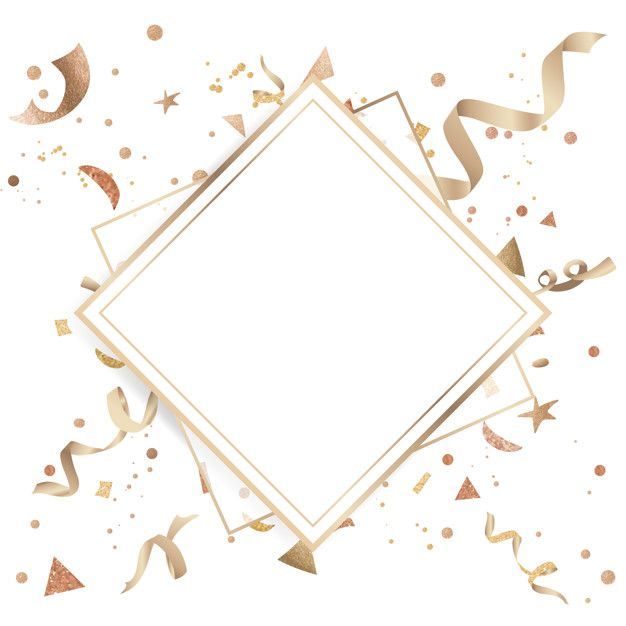 Download Gold Confetti Celebratory Design For Free Vector Free Background Design Geometric Background