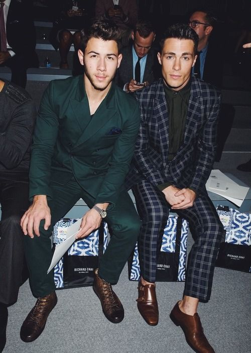 Nick Jonas & Colten Haynes Attend Richard Chai's Spring 2014 show #NYFW