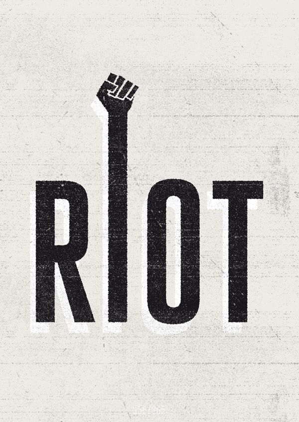 Riot.   ---  The All Day Everyday Project is my graphic design diary. Many designers did some similar projects before - designing something cool everyday. And so do I now. When you work for an agency or clients, you're often not allowed to make things look exactly like you want it - which is sometimes frustrating, but that's the way it goes. So to keep stuff in balance, I decided to start this project. Enjoy!  You can buy this print and all others from The All Day Everday Project here:  To…