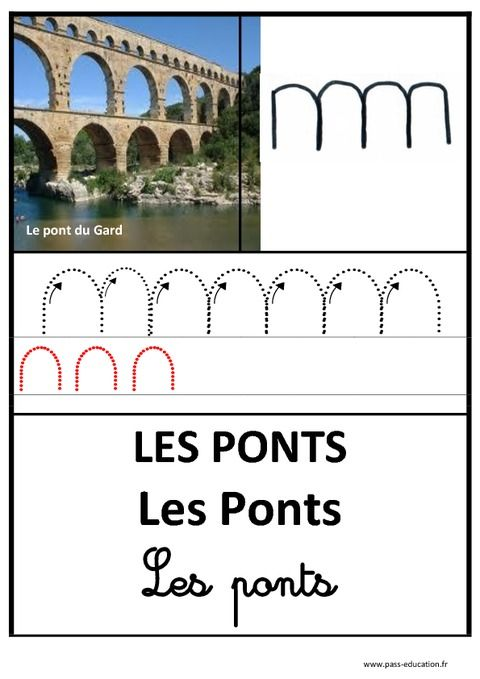Ponts – Graphisme – Affichages pour la classe – Maternelle – PS – MS – GS – Pass Education