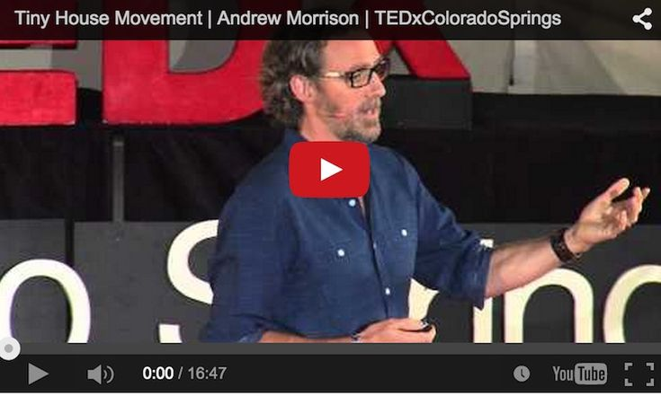 """This talk was given at a local TEDx event, produced independently of the TED Conferences. Andrew and his wife, Gabriella, are the creators of """"hOMe"""", the 207 SF (+110 SF in lofts) modern tiny house on wheels."""