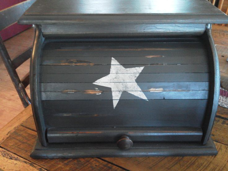 This is the breadbox I want and it's sold out!!Primitive Rustic Bread Box by PorchSittinPrimitive on Etsy, $39.99