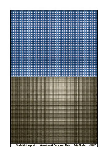 American European Plaid Upholstery Pattern Decal Road Sign