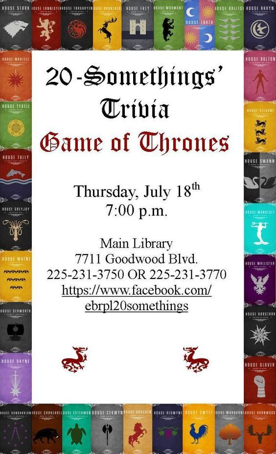 Test your knowledge of all things Westerosi with a Game of Thrones Trivia Challenge!