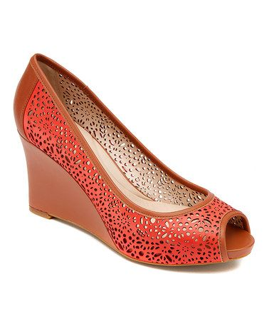 Rockport: Red Laser-Cut Wedges by Rockport on #zulilyUK today!