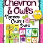 Owls and Chevron Numbers, Colors and Shapes Posters  Decorate your classroom this year with this adorable Owls and Chevron Numbers, Colors and Shap...