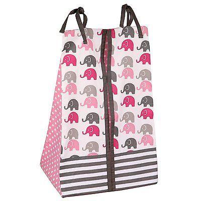 Baby Girl Bedroom Set Nursery Bedding Elephants Pink Grey 10 pc Crib Infant Room