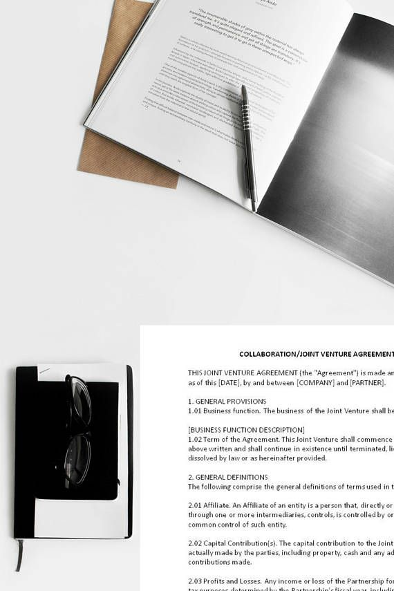 Sample Joint Venture Agreement, Collaboration Agreement, Joint Venture Template, Brand Partner Agreement, Ad Agreement, Sample Contract Bloggers sometimes collaborate with other bloggers, brands, and companies for cross-promotional purposes, for an event, commercial, ad and other reasons. It is always ideal to present the partners an agreement to memorialize the duties, obligations and terms of any venture. This template can start as a starting point to include all the important details…