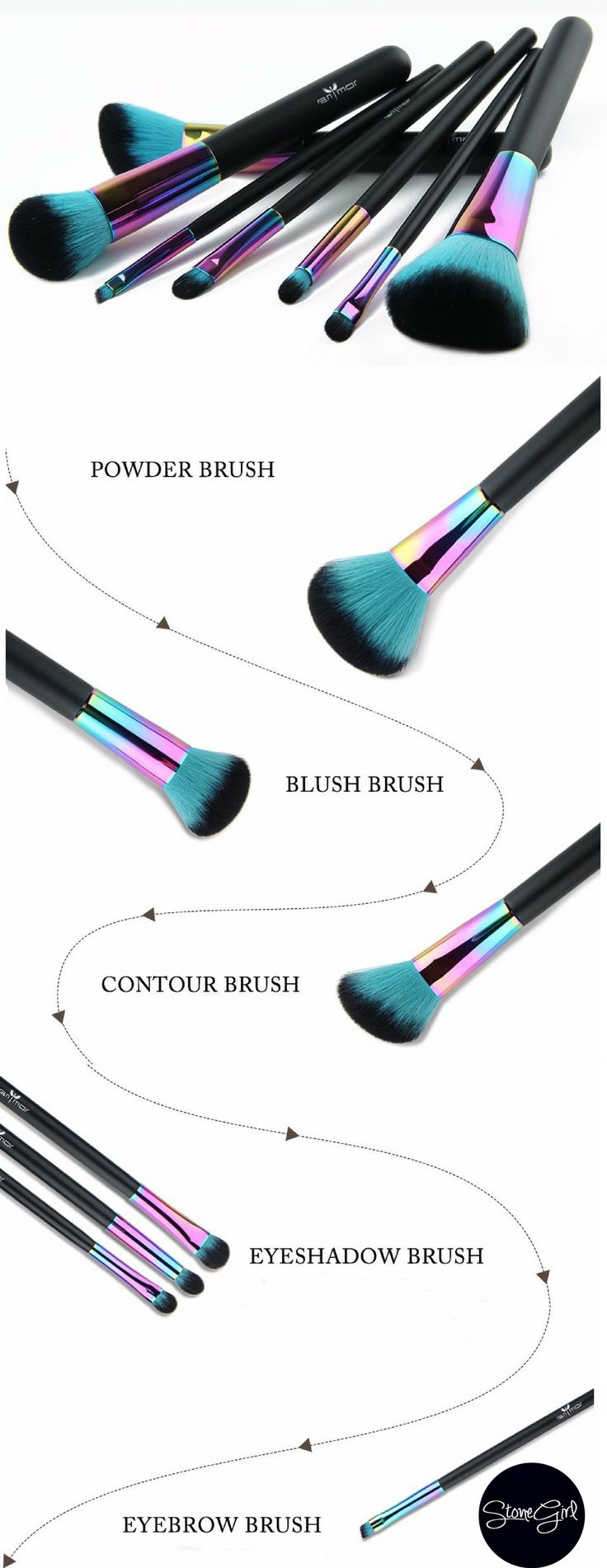 Product Highlights: - Stunning 7 Piece makeup brush set - Every brush you need for blending, contouring & highlighting - Our brushes are perfect for powders, liquids & minerals - High quality syntheti