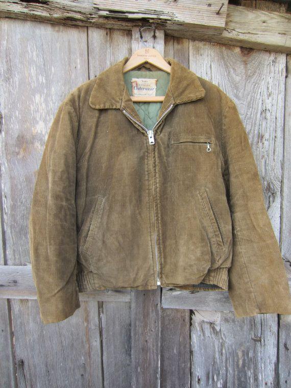 40s Sears Roebuck Utility Jacket, Women S-M // Vintage Corduroy Coat
