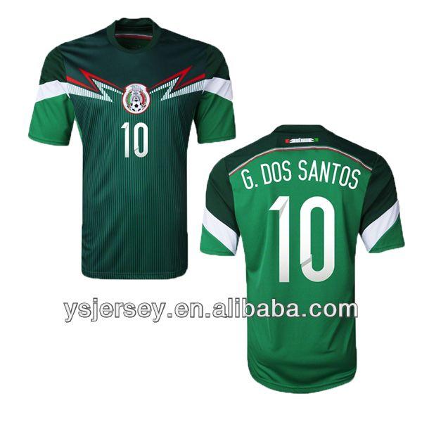 10 g.dos santos 13 14 mexico home thailand quality brasil cup jersey mexico soccer