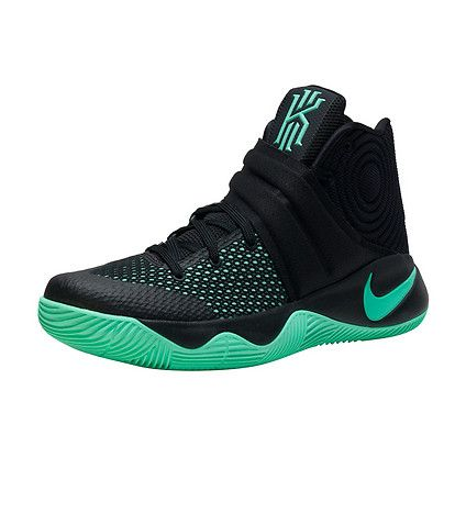 NIKE Kyrie Irving Men\u0027s mid top shoe Lace up closure Green Glow accented  NIKE swoosh logo branding d.