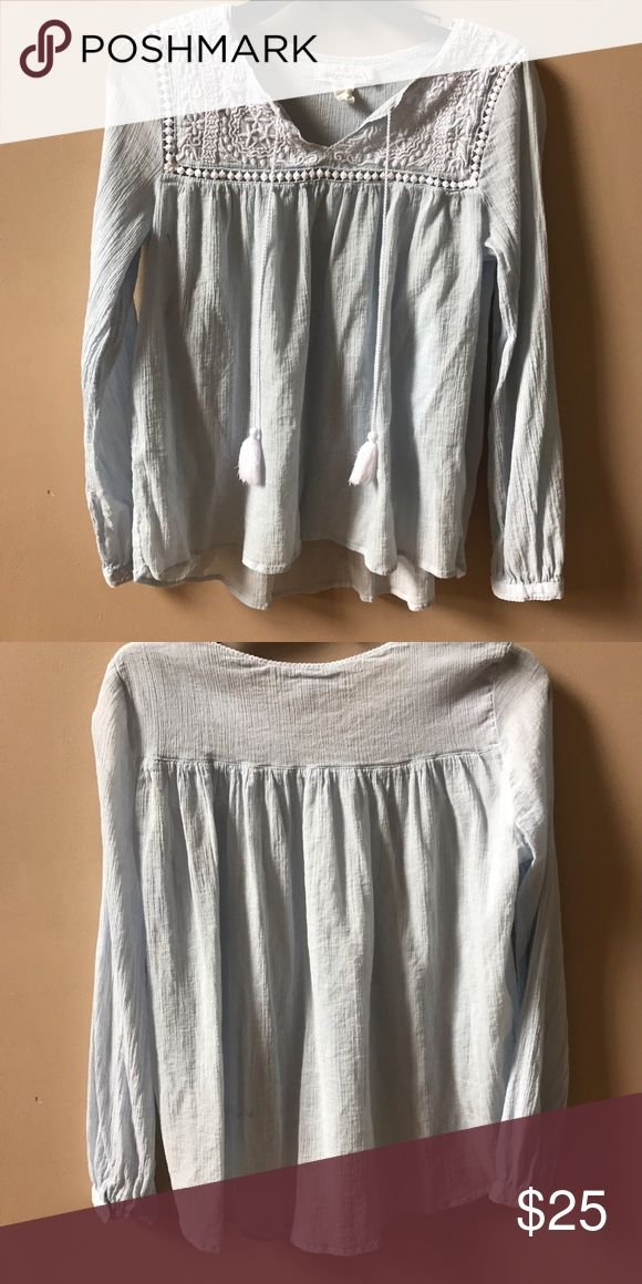 Blue and White Blouse Great Condition! H&M Tops