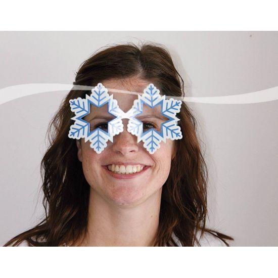 Apres ski sneeuwvlok bril voor volwassenen. Grappige apres ski sneeuwvlok bril in de vorm van een sneeuwvlok. Sneeuwvlok bril voor leuke winterfeesten.