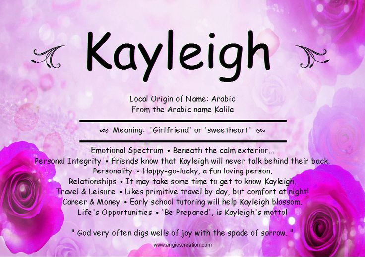 Kayleigh Name Meaning Like Us On Facebook Diaper Cakes