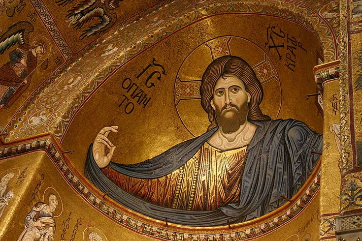 Christ Pantocrator - Cathedral of Monreale - Italy 2015 - Christ Pantocrator - Byzantine mosaic in the Cathedral of Montreale, Palermo, Sicily.