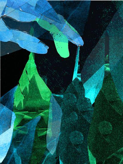 Wrzeciono, Martyna Bocheńska grafika cyfrowa 30 x 40 cm