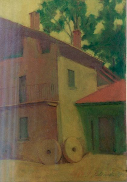 Cortile con macine - Museo on line del patrimonio artistico dell Ospedale di Varese