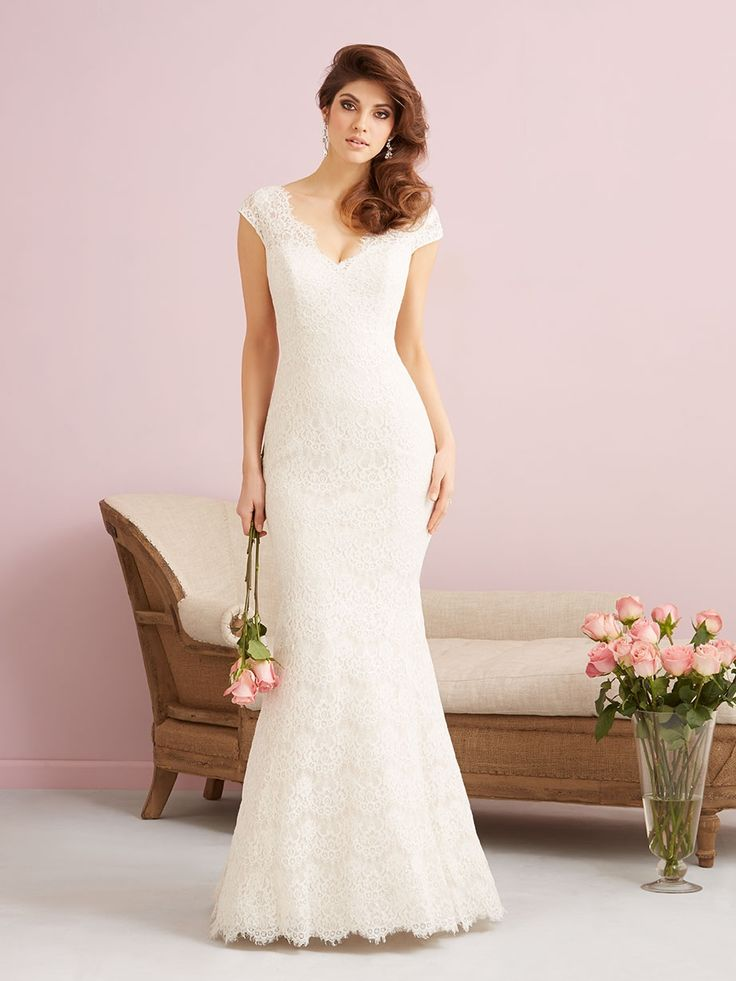 Great Allure This lovely cotton lace gown proves that a simple and chic bridal style is just as powerful as one bejeweled and glitzy