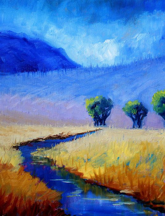 Mist in the Mountains Landscape Painting by Nancy Merkle; Original and Fine Art Reproductions