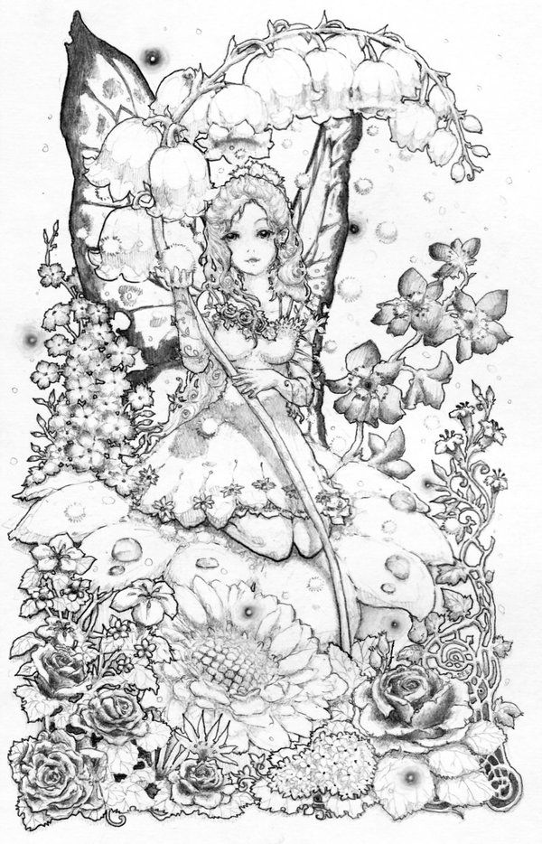 find this pin and more on fantasy lady coloring pages