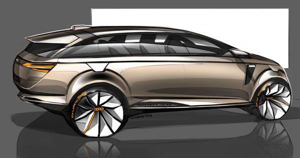 Car design sketches #4 by Grigory Butin, via Behance