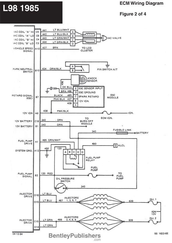 Wiring Diagram L98 Engine 19851991 (GFCV) Tech