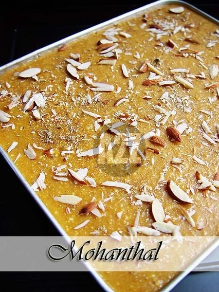 Know What You Eat: Mohanthal or Chickpea (besan) flour fudge is a Gujarati delicacy most often made during any auspicious occasions like Deepawali | Diwali. It can be described as chickpea (besan) flour fudge spiced with cardamom and topped with sliced Almonds. It can also be served as a sweet snack along with some spicy mixture, or as one in many sweets we make during this time of the year. Since this is a traditional sweet I have tried to compose it in a step procedure along with some…