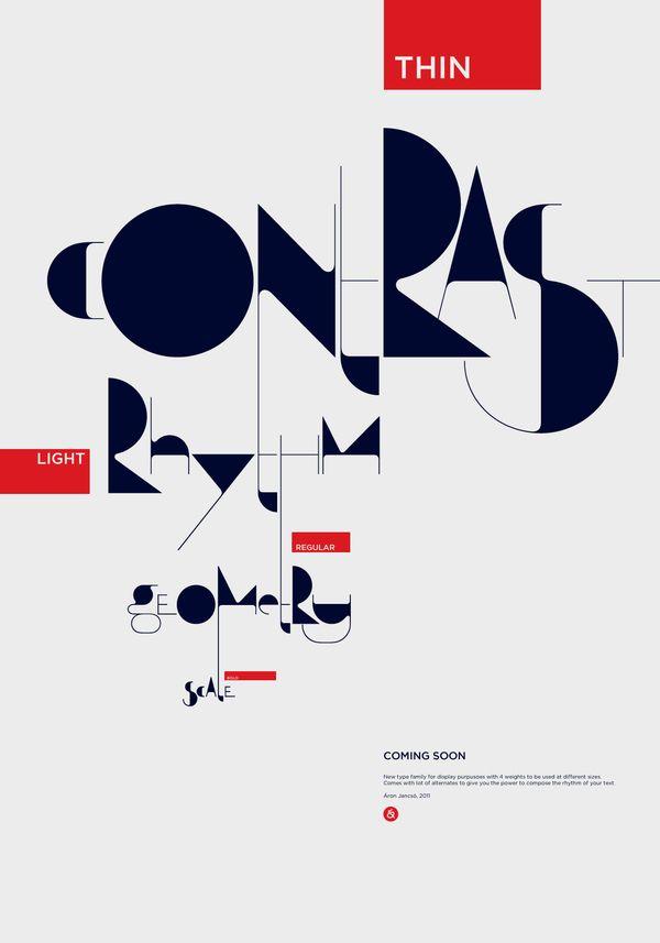 Qalto typeface by Áron Jancsó, via Behance