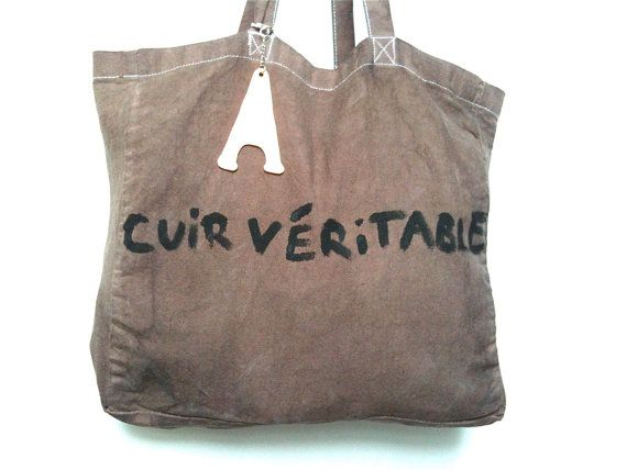 Cuir Big Shoulder BAG / My Little French by MyLittleFrenchShop, $89.00