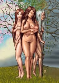 In many modern Pagan traditions, the triple goddess in the form of Maiden/Mother/Crone is honored