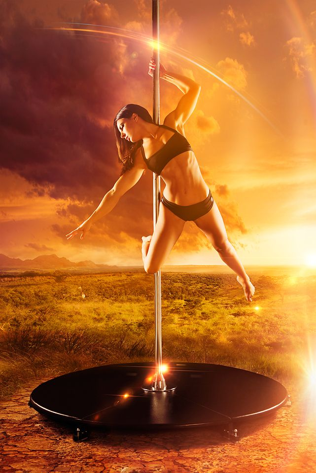Michelle Shimmy on the 45mm chrome X-Stage Lite during her South African tour 2013. #michelleshimmy #xpole #myway