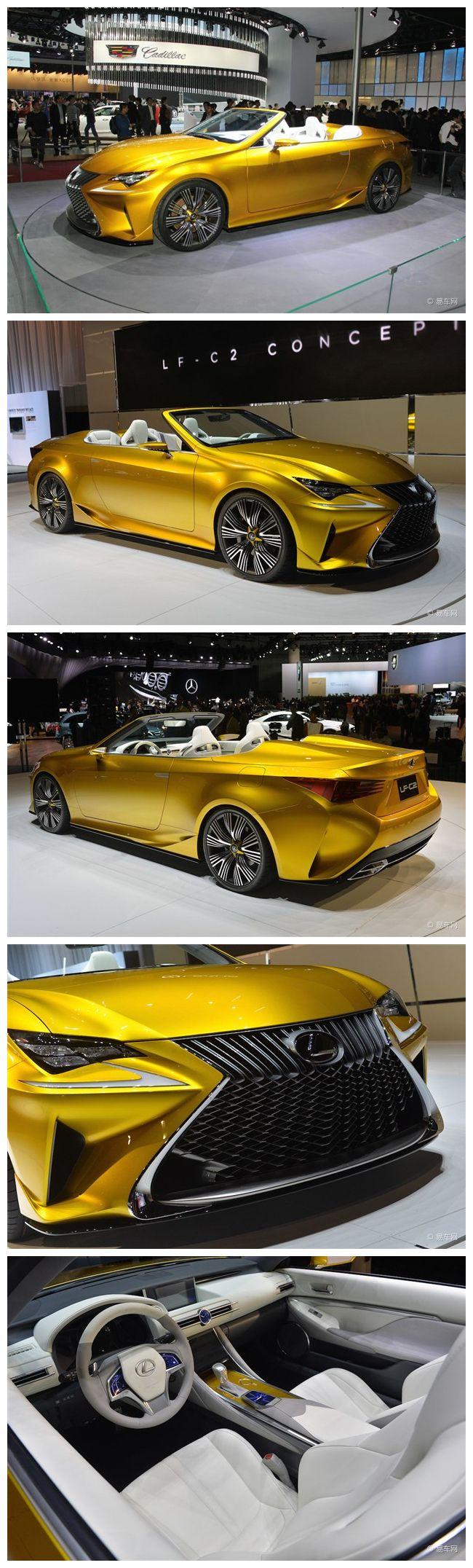 Lexus lf c2 convertible concept car unveiled