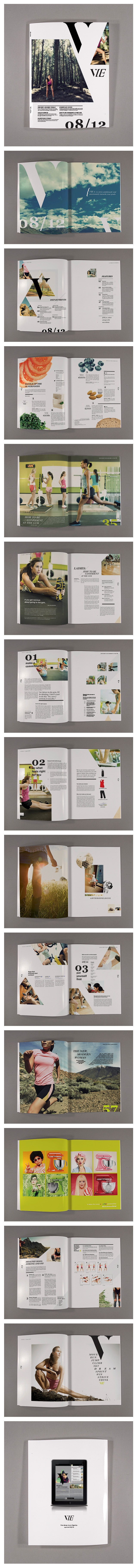 Vie #layout #publication #graphicdesign