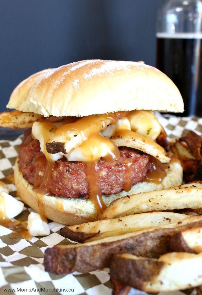 Chicken Poutine Burgers Recipe #CanadianRaisedChicken