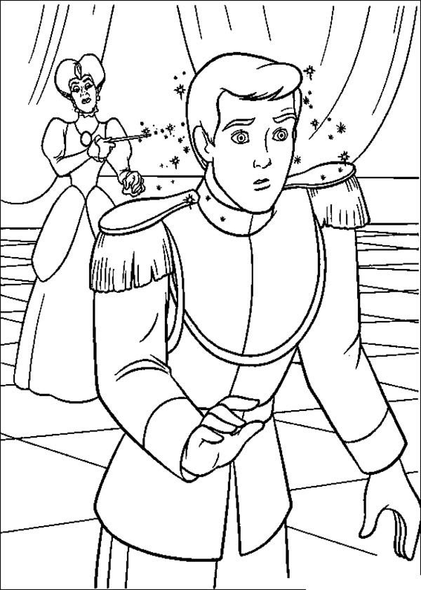 prince charming cinderella coloring pages - photo#10