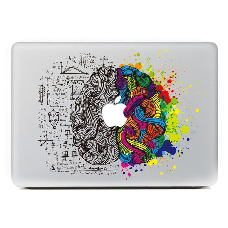 "New Left and Right Super Brain Decal for Apple Macbook Pro 13"" 15 inch and Air 11"" 13 inch Decal Sticker for Mac Vinyl Skins"