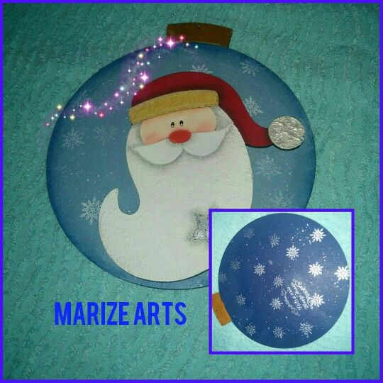 Marize Arts preparando seus enfeites do Natal 2015 - pintura country e carimbo de floco de neve. Recorte da Duna Atelier.