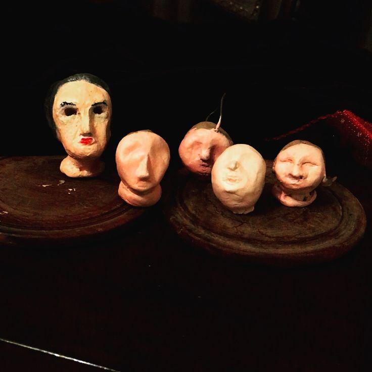 i have too many faces #clay #ceramic #dolls #faces